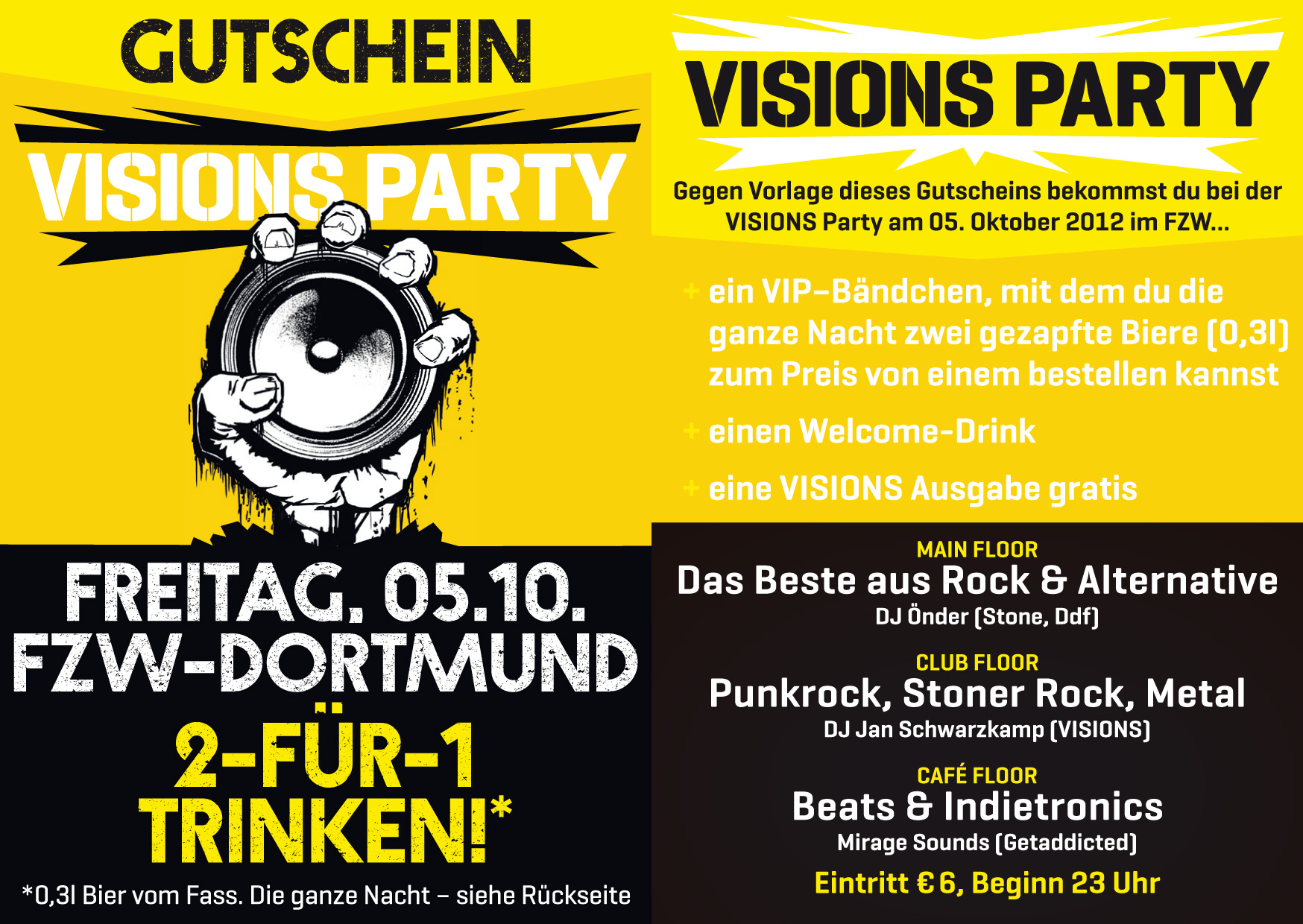 news visions party heute abend im fzw 14 32. Black Bedroom Furniture Sets. Home Design Ideas