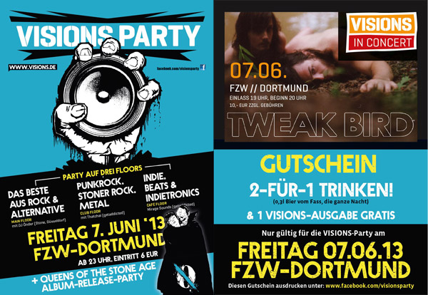 Flyer VISIONS Party 7. Juni