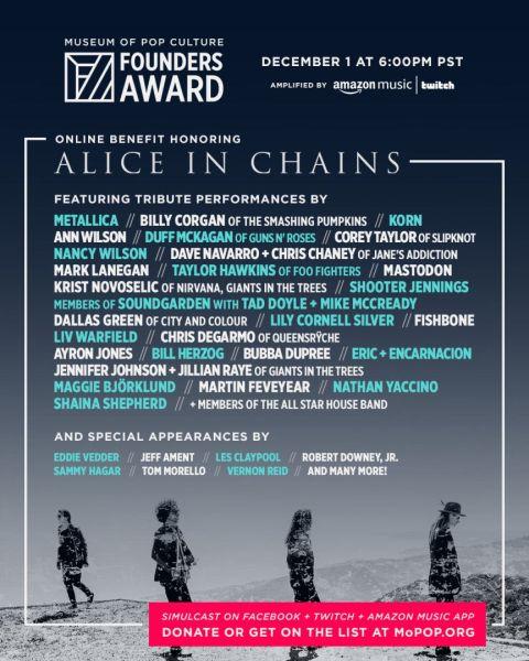 Alice In Chains - Plakat Tribute-Konzert